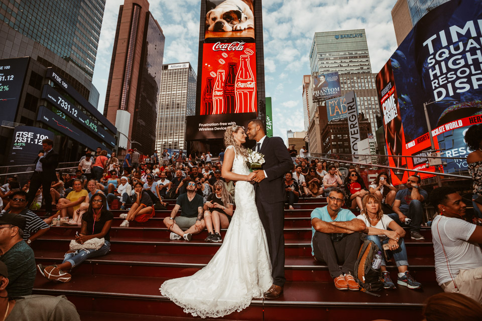 Time Square NYC Wedding Photography
