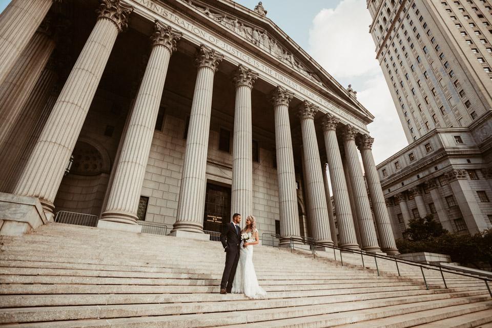 Downtown Manhattan NYC Wedding Photos